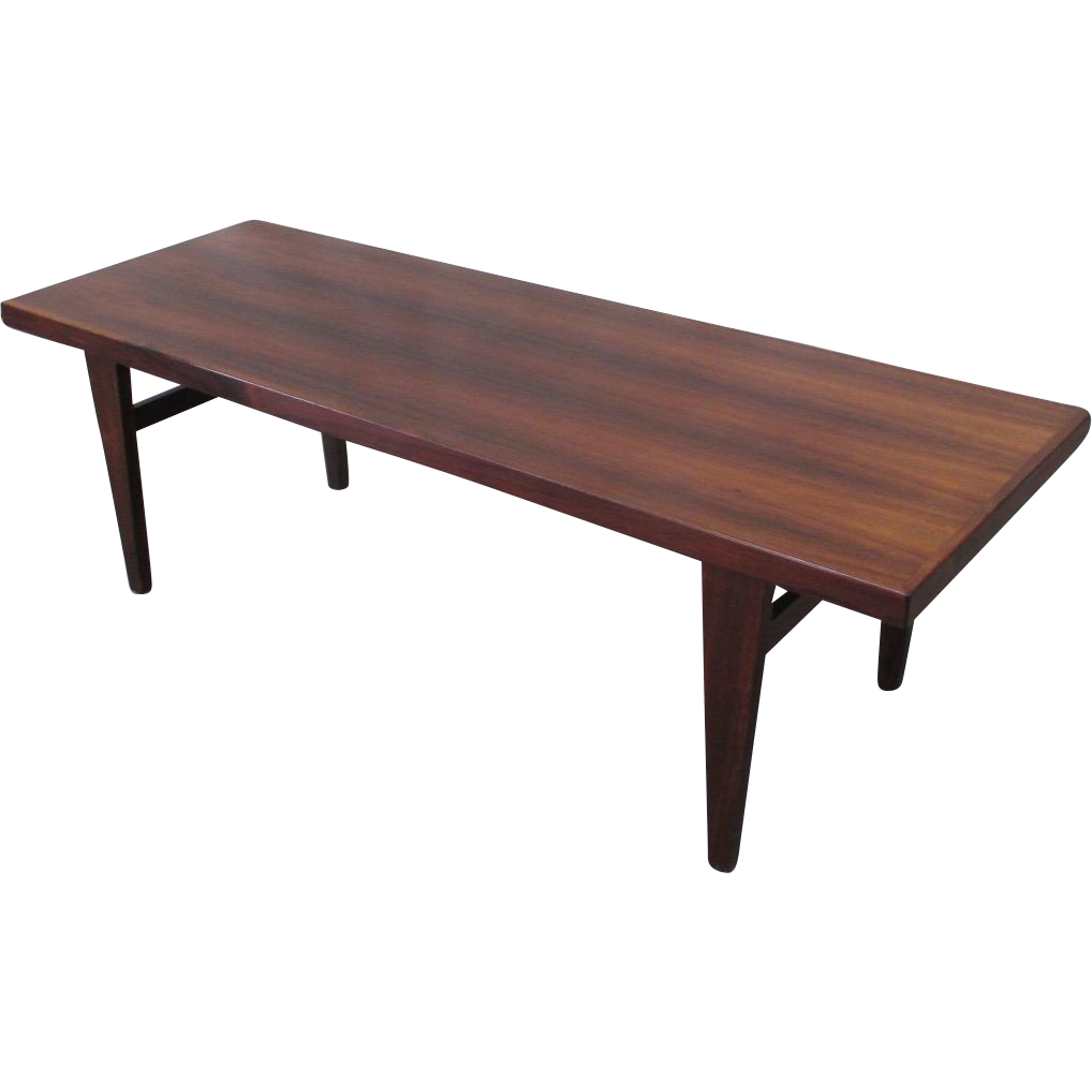 Mid-Century Modern Rosewood Coffee Table Vintage Furniture