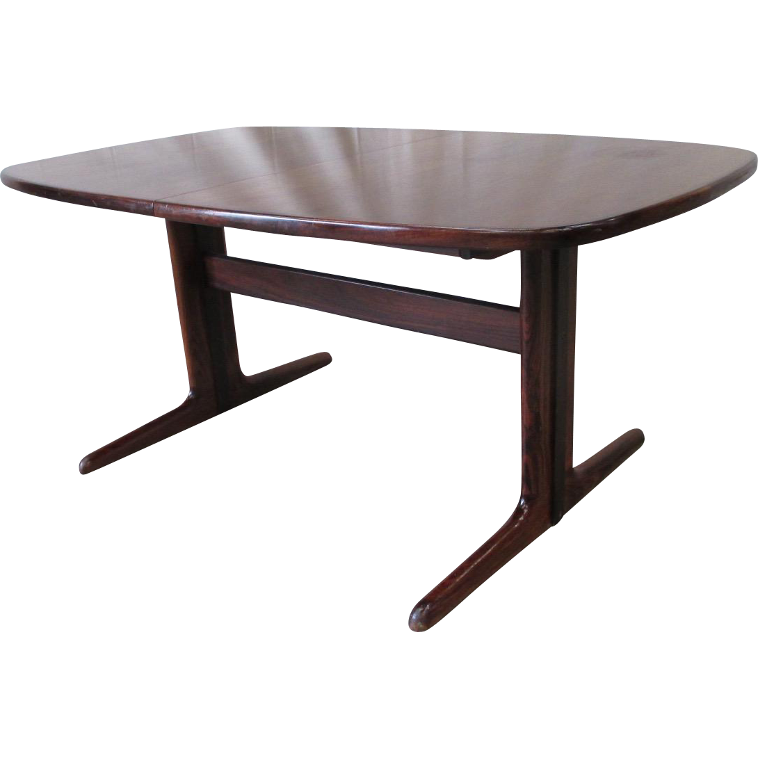 Mid-Century Modern Rosewood Dining Table Vintage Furniture