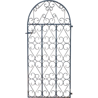 Ornate English Antique Dome Top Iron Gate