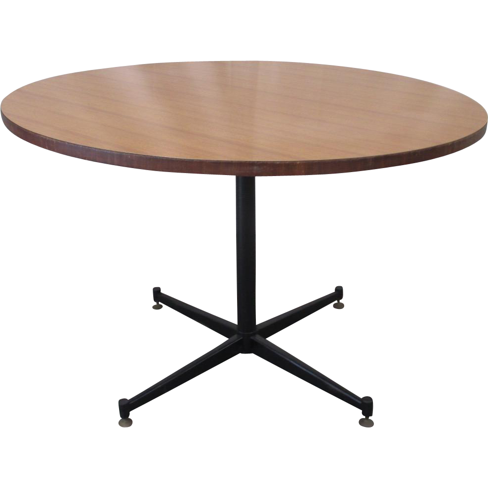 Mid-Century Modern Round Dining Table Game Table Vintage Furniture