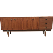 Mid-Century Modern Credenza Console Vintage Furniture