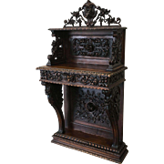 French Antique Gothic Console Server Hall Accent