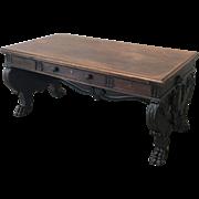 Italian Antique Partner's Desk Double Sided Desk