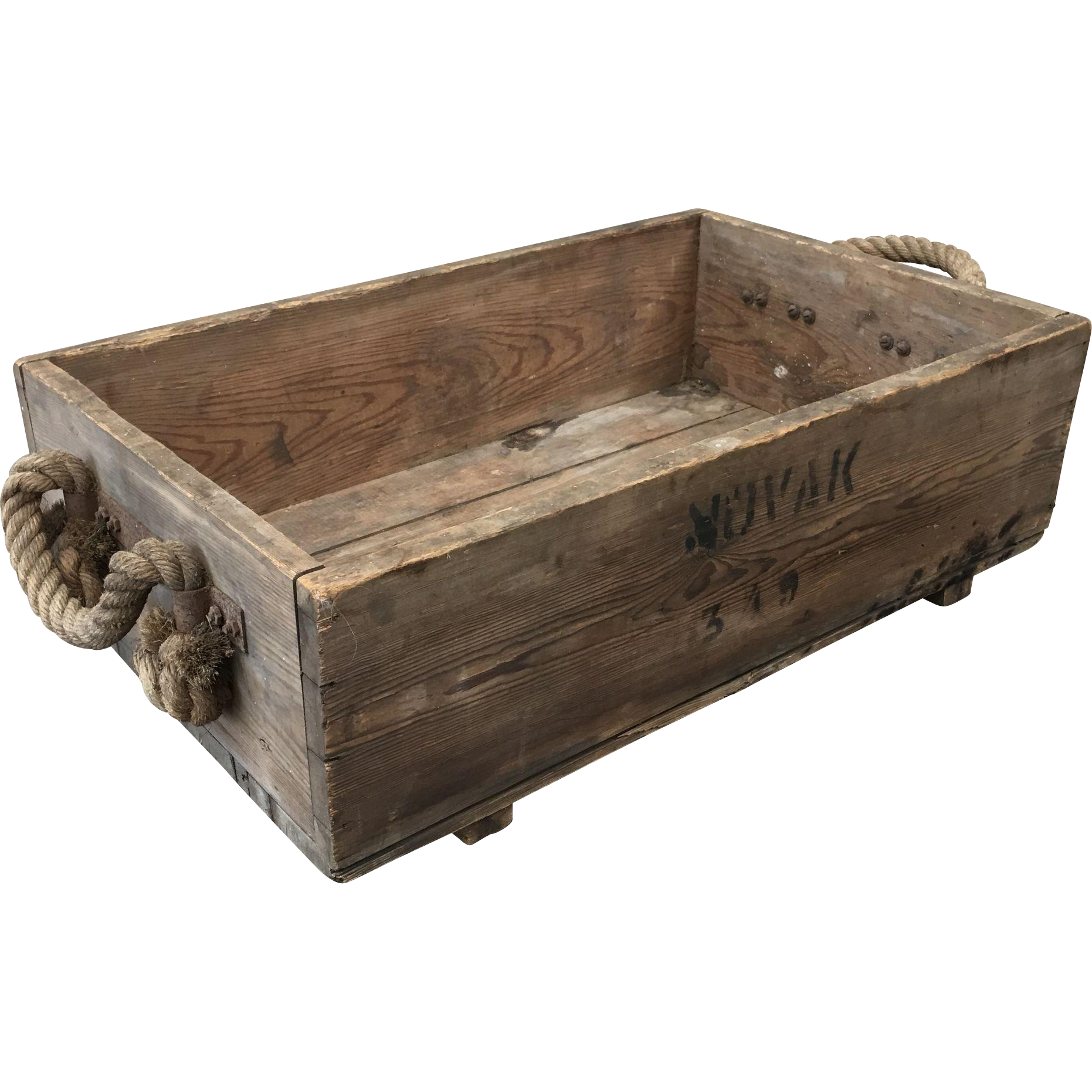 French Antique Vineyard Grape Crate Carriers French Wine Decor