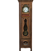 French Antique Carved Grandfather Clock Briton Grandfather Clock