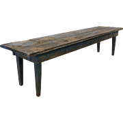 French Antique Rustic Long Bench Antique Furniture