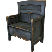 Antique Painted Bishops Chair Hall Chair Antique Furniture