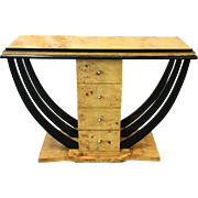 Art Deco Art Moderne Console Table with Drawers