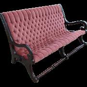 English Antique Mahogany Sofa Love Seat