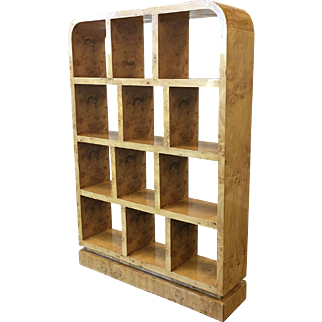 Art Deco Art Moderne Stylish Wall Bookcase Wall Display Case