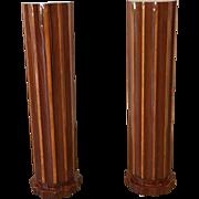 Pair of Art Deco Fluted Floor Columns Art Moderne Furniture