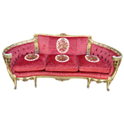 Stunning Vintage Carved Sofa Couch Loveseat Settee Vintage Furniture