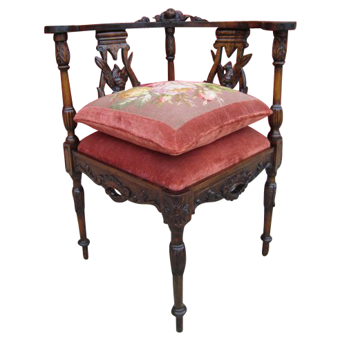 Antique Carved Corner Chair Armchair Antique Furniture