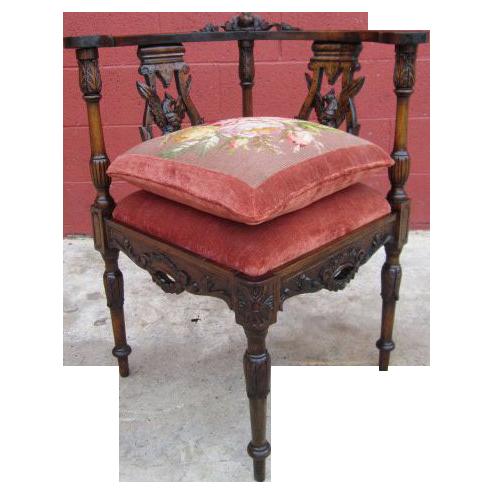 Antique Carved Corner Chair Armchair Antique Furniture