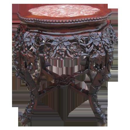 Antique Oriental Table Plant Stand Antique Furniture