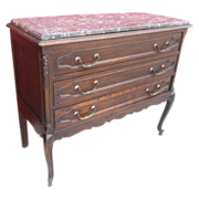 French Antique Marble Top Dresser Antique Furniture
