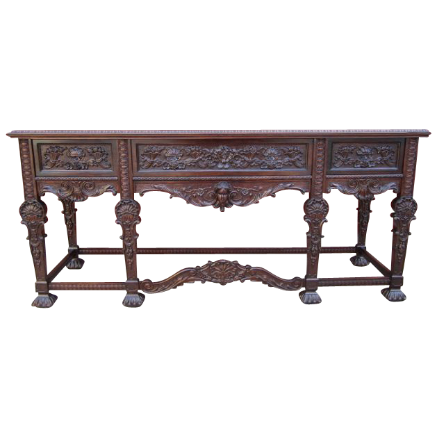 Carved Gothic Console Sideboard Server