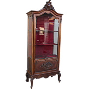 French Antique Display Cabinet Vitrine China Cabinet