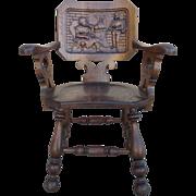 French Antique Pub Armchair