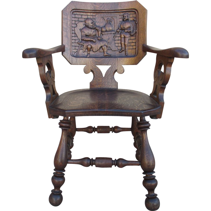 French Antique Pub Armchair
