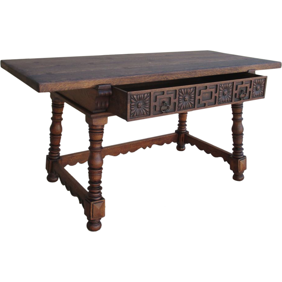 Spanish Antique Writing Table Desk