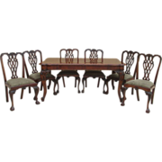 Vintage Italian Carved Walnut Dining Set