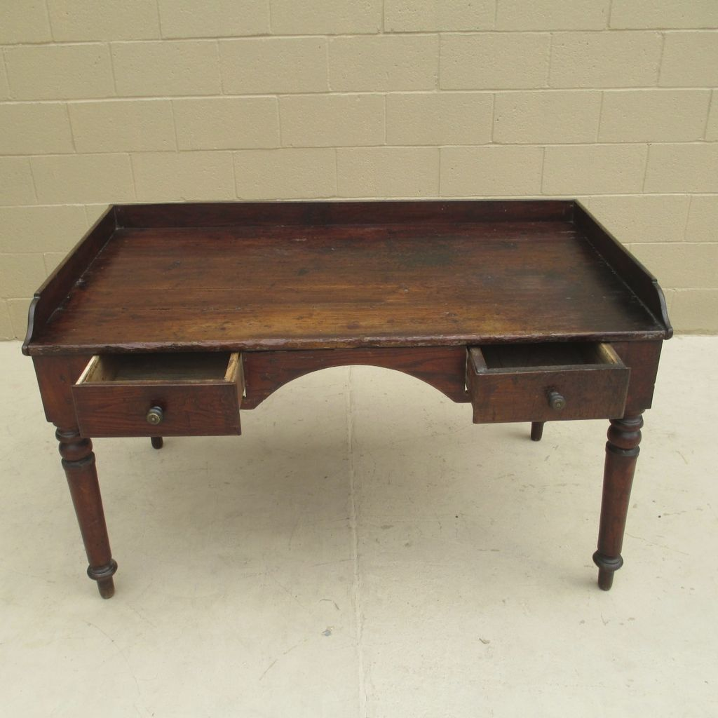 Rustic Antique Two Drawer Writing Desk Sold On Ruby Lane