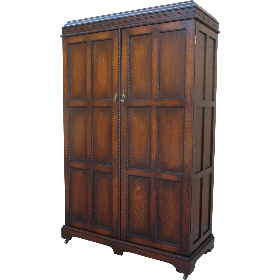 english antique oak armoire gentlemens wardrobe with built in drawers antique english wardrobe armoire