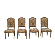 French Antique Louis XVI Gilt-wood Side Chairs Antique Furniture