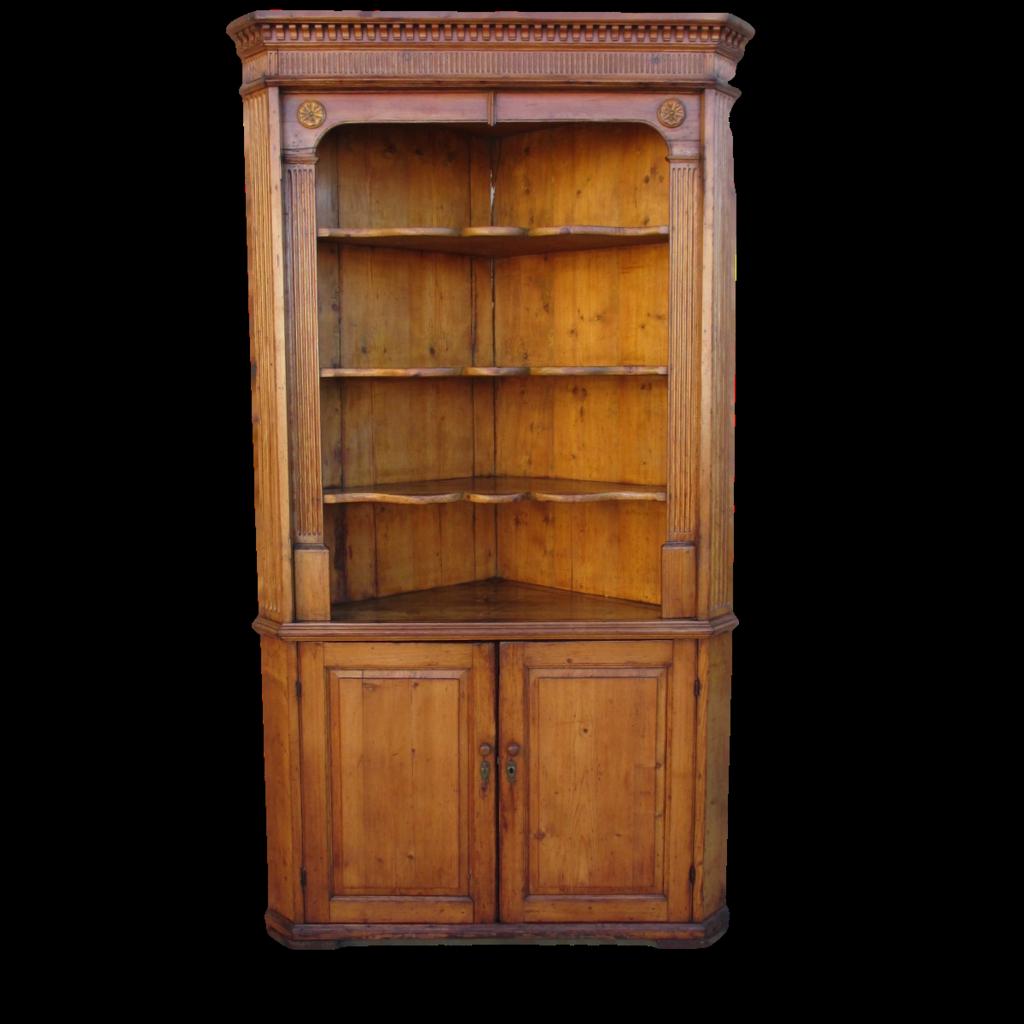 Antique Pine Corner Cabinet  Hutch Antique Furniture