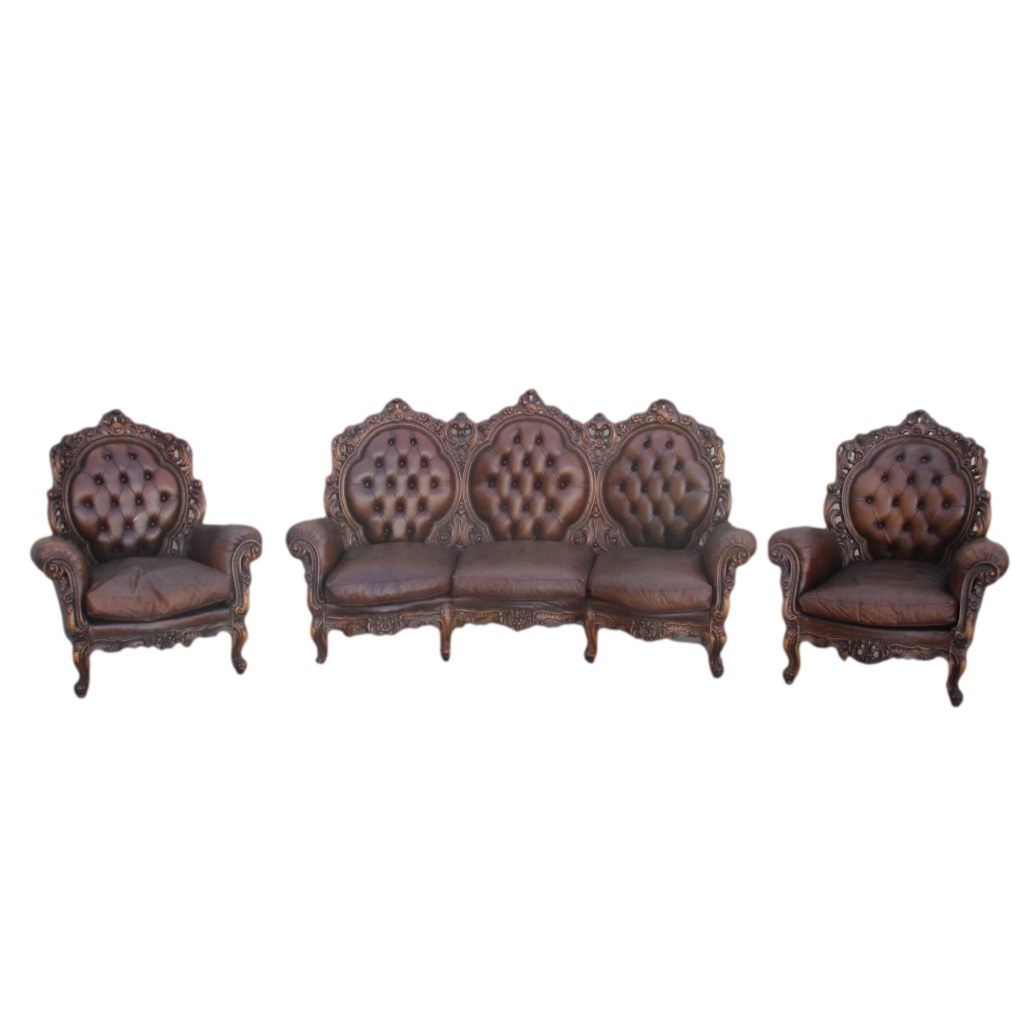 French Antique Sofa Couch and Two Chairs Antique Furniture!