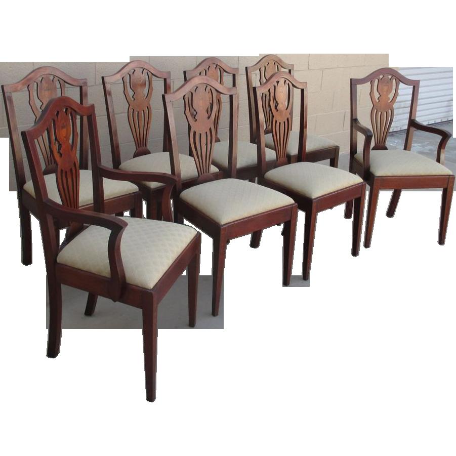 American Antique Hepplewhite Dining Chairs Antique Furniture