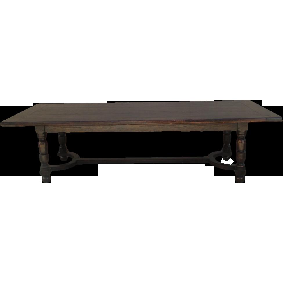 English Antique Large Dining Trestle Farm Table Antique Furniture