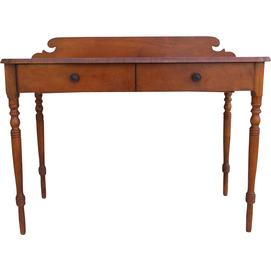 Handsome Vintage Hitchcock Writing Desk Console With