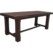 French Antique Rustic Farm Table Trestle Table Antique Furniture