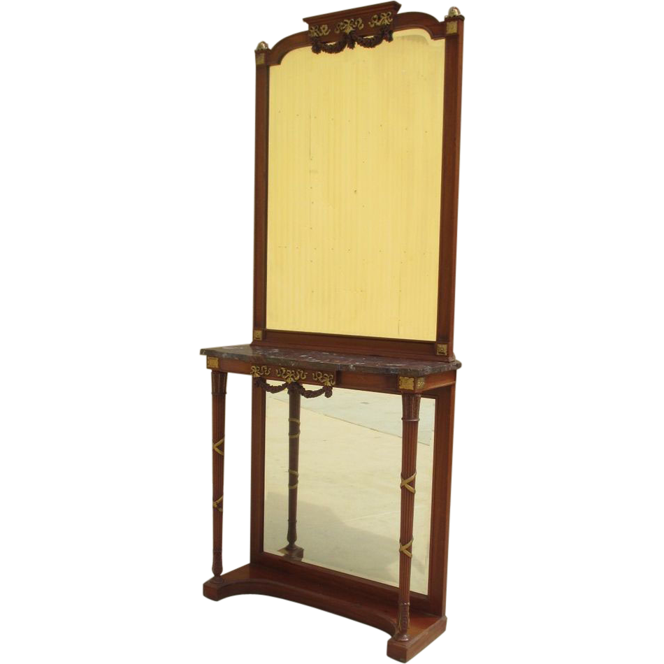 French Antique Console Mirror Entry Table Antique Furniture
