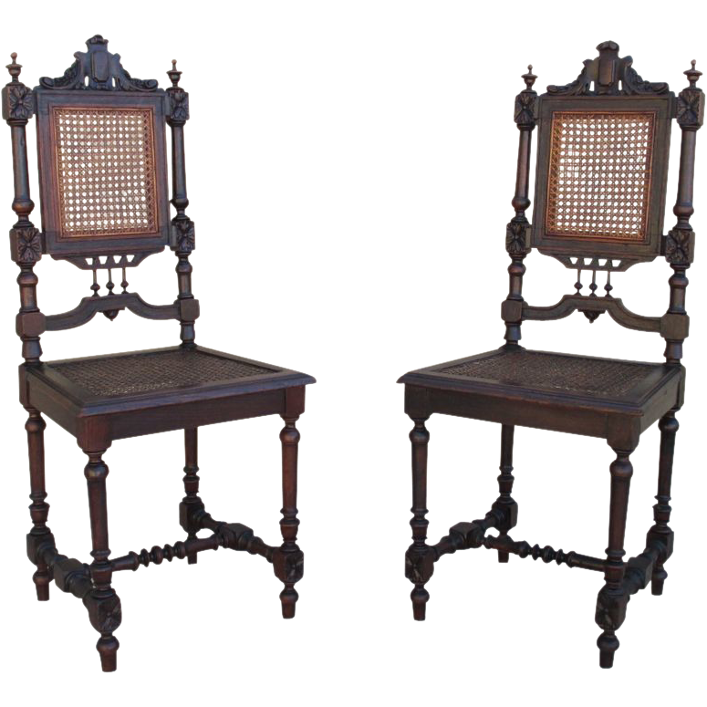 Pair of French Antique Dining Chairs Hunter's Chairs Antique Furniture