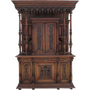 Fabulous French Antique Gothic Sideboard Cabinet Antique Furniture