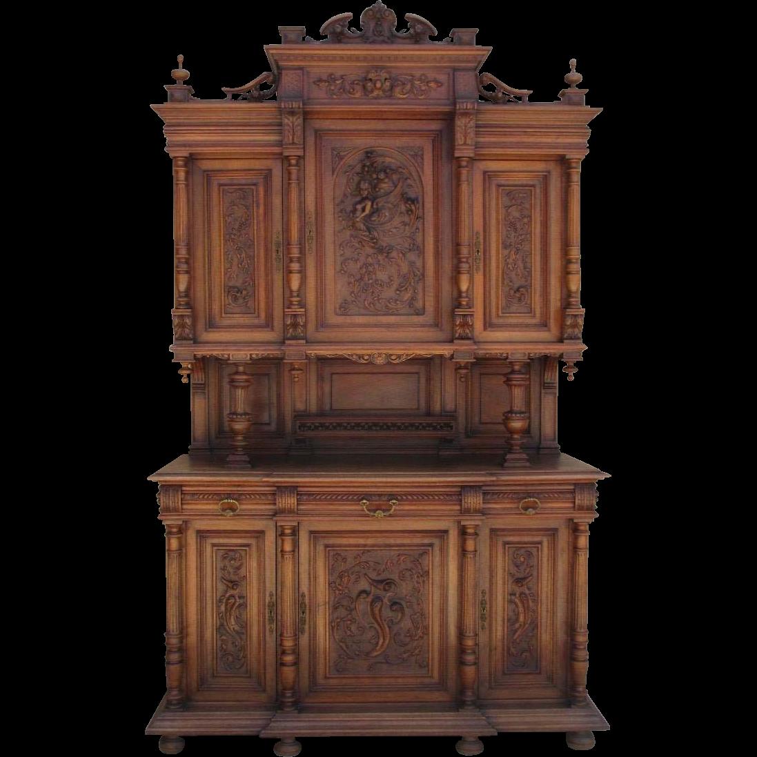french antique sideboard antique hutch cabinet antique. Black Bedroom Furniture Sets. Home Design Ideas