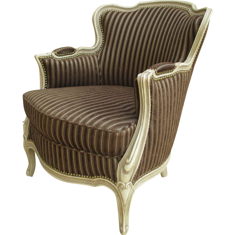 French Antique Chair Painted Armchair Parlor Chair!