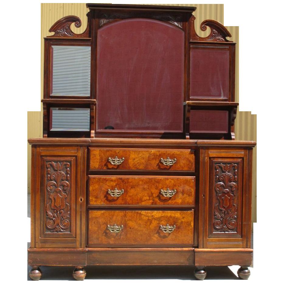 English antique mahogany sideboard buffet server antique for Mahogany furniture