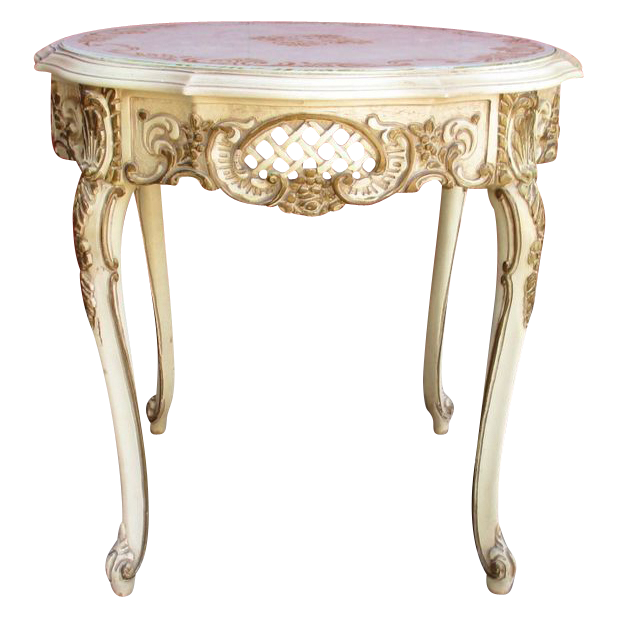 Vintage french painted lamp table accent table sold on for Table in french