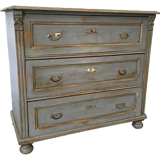 French Antique Chest of Drawers Dresser