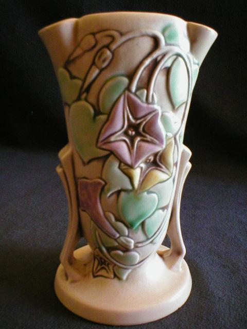 "Roseville Pottery "" Morning Glory"" Vase #725-7"