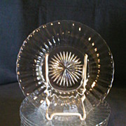 "Set of 6 - Heisey Crystal (Clear) ""Coarse Rib"" Pattern Salad/Dessert Plates"