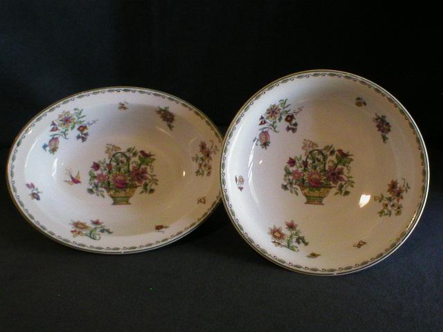 "Set of 2 Serving Bowls - Syracuse ""Rosyln"" Pattern Dinnerware"