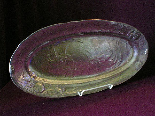 """German """"Kayserzinn"""" Pewter Art Nouveau Fish Platter"""