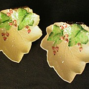 "Pair of Carlton Ware ""Currant Leaf"" Condiment Servers"
