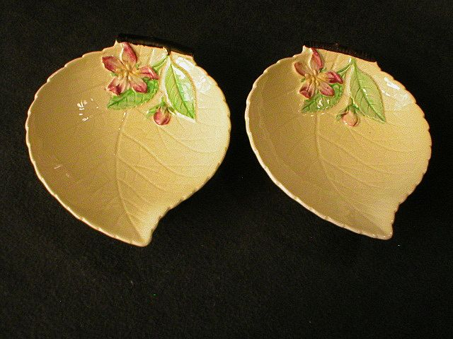 "Pair of Carlton Ware ""Apple Leaf"" Condiment Servers"