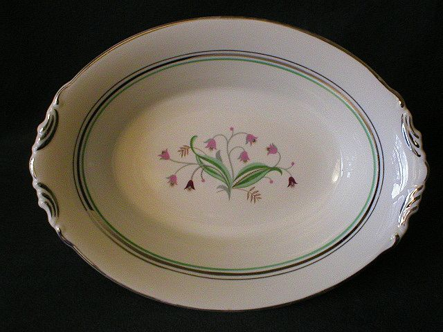 Syracuse China Quot Coralbel Quot Pattern Open Oval Vegetable Bowl